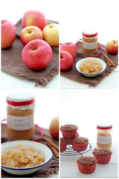 Baked applesauce and healthy muffins