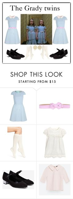 """The Grady twins"" by malunegreen ❤ liked on Polyvore featuring RED Valentino, Calvin Klein and Zara"