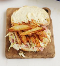 The Leftover Hungover Sandwich Ham French Fries Coleslaw