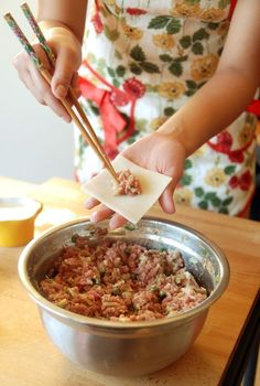 Chinese Dumpling Pork Filling | via the novice chef