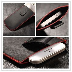 New Red border Top grade Universal Holster Skin Waist Leather Pouch Cover Case For Oppo R1k Price: PKR 344.41365 | Pakistan