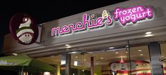 Menchie's of Swede Square. Make sick creations, Salted Caramel Pretzel with Pure Chocolate, Toffee and Peanut Butter Cup Whaaa! Peanut Butter Cookies, Oreo Cookies, Menchies Frozen Yogurt, Pineapple Sorbet, Frozen Yogurt Shop, Cedar Park, Eat Right, Happy Kids