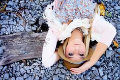 me on railroad tracks.  photoshoot!