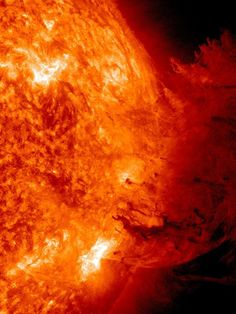Solar flare picture: an eruption caused by a sun flare