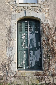 Door of the abandoned Chateau de Boux, France.