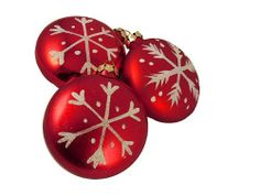 3 Christmas Ornaments by Gordon Companies, Inc. $22.50. Brand Name: Gordon Companies, Inc Mfg#: 30758098. Shipping Weight: 0.75 lbs. Please refer to SKU# ATR25789477 when you inquire.. Picture may wrongfully represent. Please read title and description thoroughly.. This product may be prohibited inbound shipment to your destination.. 3 Christmas ornaments/discs/snowflake design/glittery matte finish/red/shatterproof/fully dimensional/comes with a set of golden string hanger...