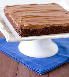 Chocolate Fudge Brownies with Chocolate Buttercream Frosting by Brown Eyed Baker