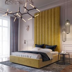 For more bedroom interior design inspirations check our website Master Bedroom Design, Home Bedroom, Bedroom Decor, Bedroom Lighting, Master Bedrooms, Bedroom Ideas, Bedroom Interiors, Modern Bedrooms, Modern Room