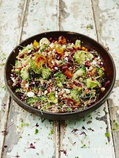 be healthy-page: Superfood salad with quinoa & roasted sweet potato...