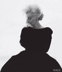 Marilyn Monroe as photographed by Bert Stern for Vogue Magazine, 1962.