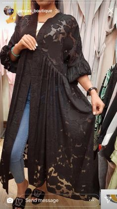 Simple Pakistani Dresses, Pakistani Fashion Casual, Abaya Fashion, Kimono Fashion, Fashion Dresses, Mode Abaya, Mode Hijab, Iranian Women Fashion, African Fashion