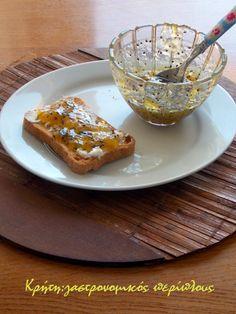 Με αμπερόριζα και χυμό πορτοκαλιού!    Όταν ένα φρούτο καλλιεργείται από το 1977 στον τόπο σου, νομίζω ότι δικαιούται πλέον να πολιτογραφηθεί ντόπιο. Τα ακτινίδια -φρούτα με καταγωγή από την Κίνα και την Νέα Ζηλανδία – καταναλώνονται πλέον σε όλη την Ευρώπη ,και παράγονται στην Ελλάδα και σε … Marmalade Jam, Jam Recipes, French Toast, Breakfast, Food, Chutneys, Vases, Cooking, Morning Coffee