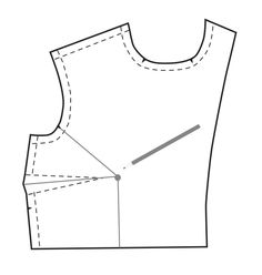 How to adjust the size of the bust area of a sewing pattern