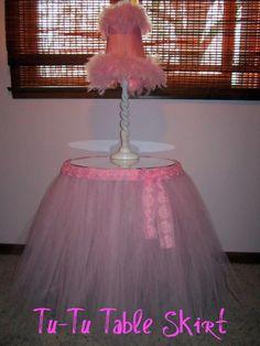 tulle table skirt | Tu-Tu Table Skirt for Little Miss Baby Girl! | Tidbit Times