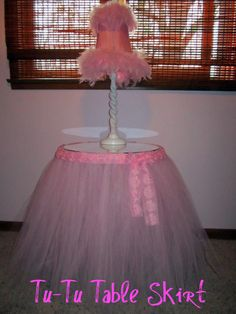 tulle table skirt | Tu-Tu Table Skirt for Little Miss Baby Girl! | Tidbit Times
