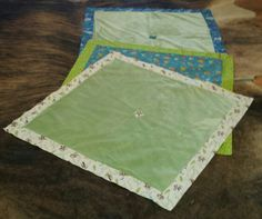 Self Binding Baby Blankets