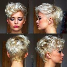 Peinados para pelo corto y rizado http://www.cocktaildemariposas.com/pelo-rizado-corto-peinados/