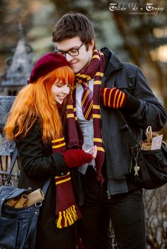 James Potter, Lily Evans and Remus Lupin, Holiday in the Hogsmeade (from J.K. Rowling's Harry Potter). Lilta-photo.deviantart.com (Geek Stuff Couple)