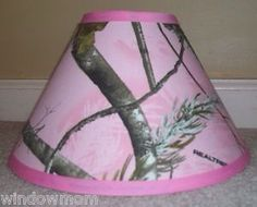 Pink Realtree Ap ® Camo Camouflage Lampsahde Made Wit Fabric Woods Cabin Hunting Pink Camo Nursery, Pink Camo Bedroom, Camo Rooms, Girl Nursery, Nursery Ideas, Bedroom Ideas, Bedroom Decor, Baby Girl Camo, Camo Baby Stuff