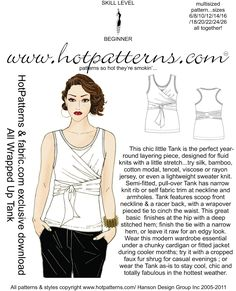 hot patterns wrapped up tank - Google Search