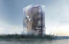 Fish Tower by Hsing-O Chiang via evolo.us