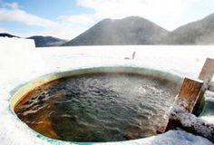 然別湖コタン氷上露天風呂 @北海道