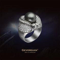 "Кольцо ""Метеор"" #GEVORGIAN #жемчуг #pearl #blackpearl #jewelery #jewelry #finejewelry #highjewellery #whitegold #белоезолото #золото #бриллианты #ювелирныеизделия #ювелирныйбренд"