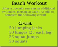 #aioutlet  To accommodate for all the yummy food and drinks. =)  .. beach workout from: http://www.pbfingers.com/2012/02/16/beach-workout/