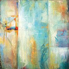 Portfolio Canvas Layered Blue 2 by Karen Hale Painting Print on Wrapped Canvas