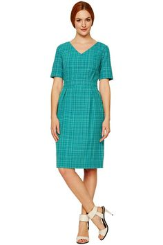 Kitty Fitted Dress in Green