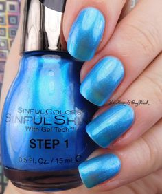 Sinful Colors Bayou Babes Blue Bayou | Be Happy And Buy Polish https://behappyandbuypolish.com/2017/04/06/sinful-colors-bayou-babes-nail-polish-collection-swatches-review/