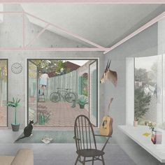 OMMX Architects design buildings, rooms and objects, all concerned with architecture's capacity to hold… - Architecture Graphics, Architecture Student, Architecture Drawings, Architecture Portfolio, Architecture Details, Interior Architecture, Gothic Architecture, Koshino House, Collage Drawing