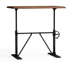 This Industrial Adjustable Crank Table Has An In Height