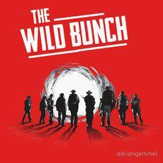 The Wild Bunch - sam peckinpah, western, movie, classic, film, cinema, 1969, william holden, ernest borgnine, warren oates, robert ryan, edmond o brien, ben johnson, bo hopkins, mexican revolution, outlaws, gunman, shootout, pat garrett billy the kid, getaway, convoy, steiner, sacramento, gang, posse, showdown, T-Shirt Design