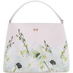 Ted Baker Candise Petal Bow Tote Bag, Nude Pink (1.650 HRK) ❤ liked on Polyvore featuring bags, handbags, tote bags, purses, ted baker, leather crossbody tote, white tote bag, pink tote, leather totes and crossbody tote
