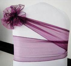 Only for the bands, no chair covers or chairs. They can be used with or without a chair cover. Wedding Chair Decorations, Wedding Chairs, Wedding Centerpieces, Wedding Table, Our Wedding, Chair Bows, Chair Sashes, Banquet Chair Covers, Purple Chair