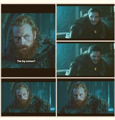 Tormund and Brienne - can't wait to see if that happens
