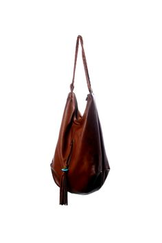 54fcea9ef95b Large dark brown Leather Tote Hobo bag with tassel by RuthKraus Brown  Leather Totes