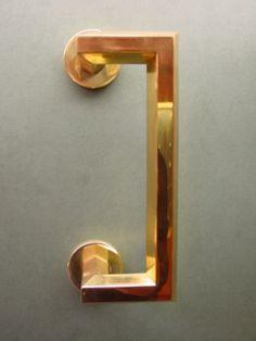 Vervloet Cat. No. 1518D/300, Door pull, Polished brass