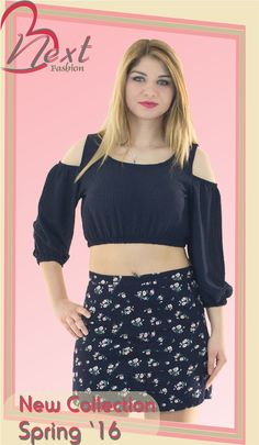 #women's #next #fashion #spring #2016 #short #skirt #cropped #top #floral #cute #blue #γυναικεία #μόδα #άνοιξη #κοντή #στενή #φούστα #κοντό #μπλουζάκι #εμπριμέ #μπλέ