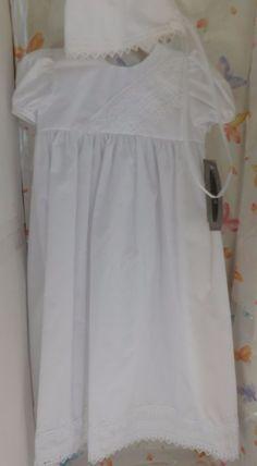 NWT Girls Gown PC28GS Cotton Heart Trim Baptism Christening LDS Blessing  #LittleThingsMeanALot #Gown #ChristeningBaptismLDS