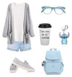 """""""Untitled #31"""" by fawn98 on Polyvore featuring Cutler and Gross, Disney, Kipling, GRLFRND and Gap"""