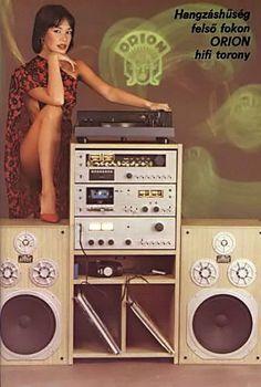 "Képtalálat a következőre: ""orion mini hifi"" Old Advertisements, Retro Advertising, Retro Ads, Mode Vintage, Vintage Ads, Vintage Posters, Radios, Retro Lounge, Big Speakers"