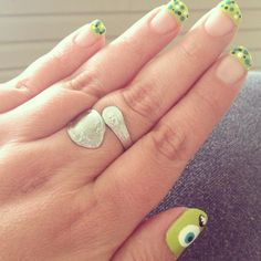 Summertime nails - Monsters Inc. inspired