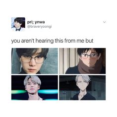 In this meme they look same ..... and best thing about this is a fact that I ship Yoonmin