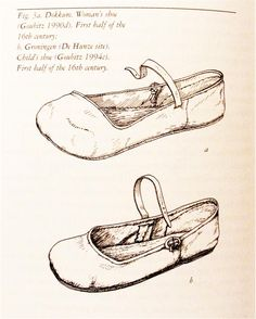 Lesson 10: Early 16th C. Cow Mouth Shoes, or Kuhlmaulschuh (Leather) - Chopine, Zoccolo, and Other Raised Heel and High Heel Construction
