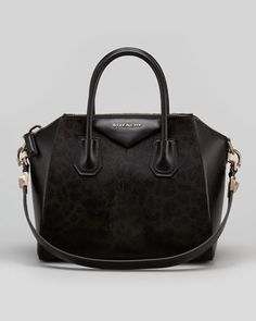 Antigona+Small+Leopard-Print+Calf+Hair+Satchel+Bag,+Chocolate+by+Givenchy+at+Bergdorf+Goodman.