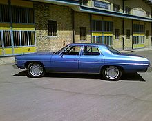 My first car, a 1974 Chevy Impala.... it was this color with a white vinyl top