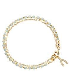 Amazonite Wishbone Biography Bracelet, Astley Clarke. Shop more charm bracelet collection online at Liberty.co.uk