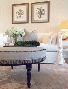 Chateau sofa slipcovered in ivory linen #washable #slipcovered #sofa #white